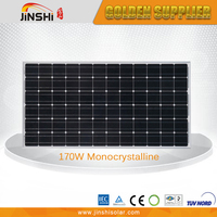 Excellent Quality Photovoltaic 170w China Solar Panel with 125*125 A Grade Solar Cells