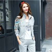 Hot sexy top quality tracksuit sport wear for ladies with pure cotton material wholesale