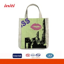 INITI Customizable Coloful Printed Canvas Tote Shopping Bag For Shopping