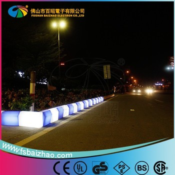 Highway subgrade construction RGB of led light curb