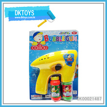 Hot Sale Top Bubble Water Gun Bottle Solid Color Music Sound Blue Light Paint Flash Kid Toys