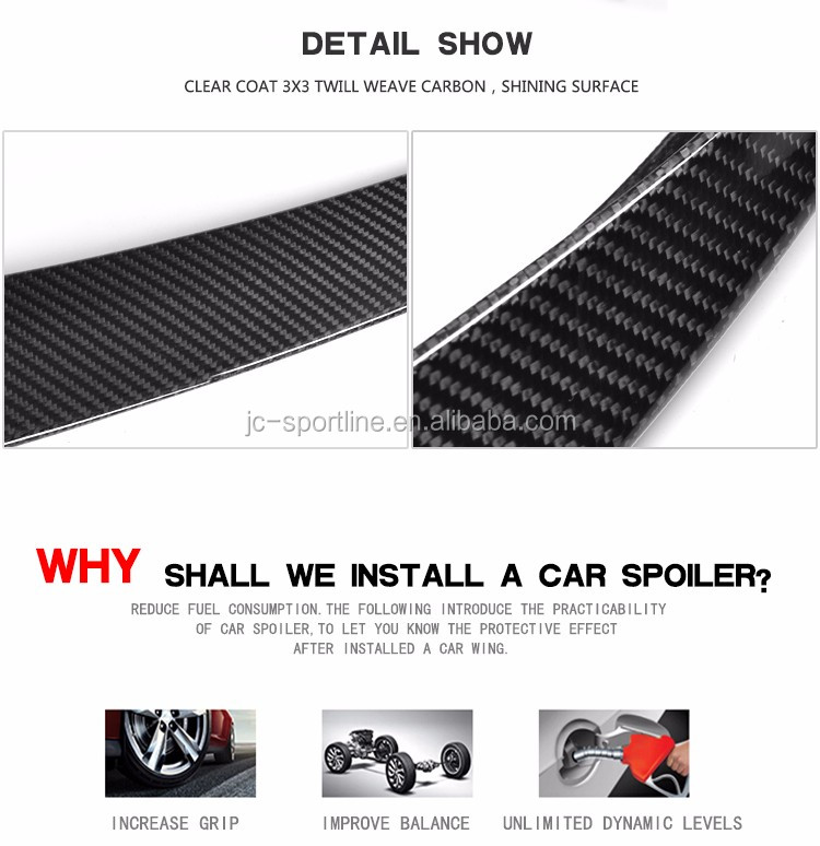 Auto Carbon Fiber Rear Wing for BMW F82 M4 P Style