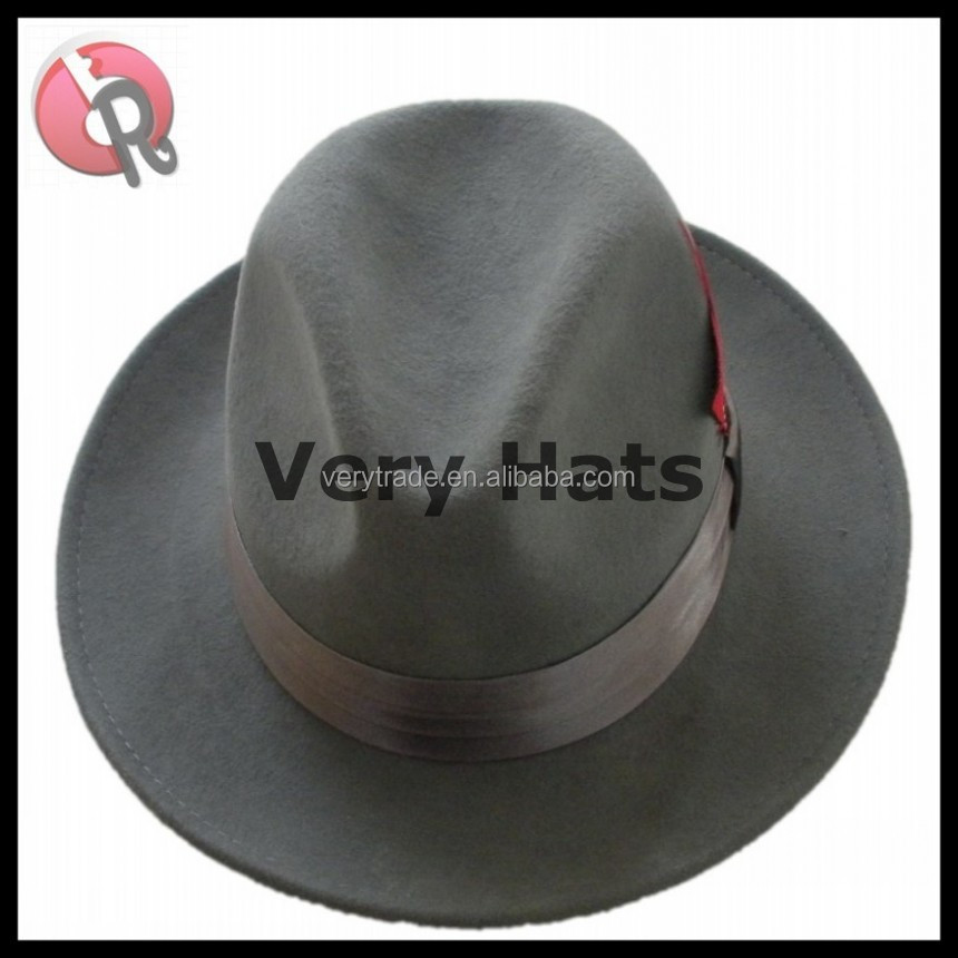 wool felt hat fedora men