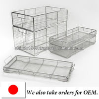Medical instrument cleaning baskets , stainless steel wire mesh OEM available