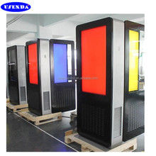 Outdoor lcd digital signage floor stand 55inch advertising machine with high brightness