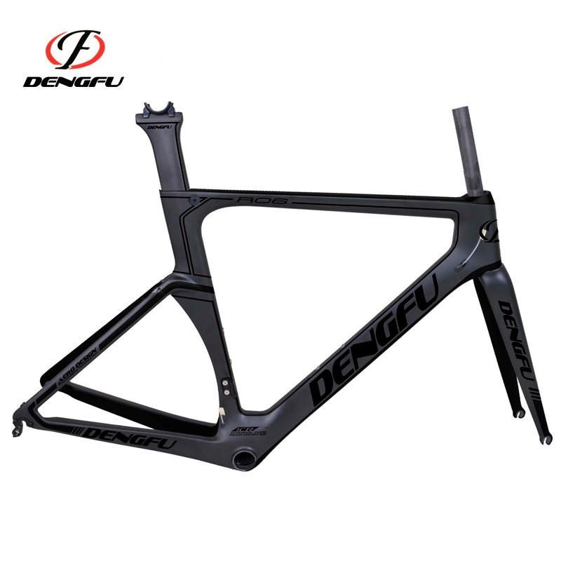 New Arrival! 2016 Dengfu New Chinese Caron Road Bicycle Frame R06 Painting Black
