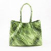 2016 Lady's Most Fashionable Flash Green Crochet PU Handbag for Spring And Summer