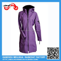 Fashional Beautiful Waterproof Windproof Ventilate Poncho Raincoat Ladies In Plastic Raincoats