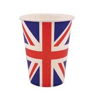 Hot selling flag design disposable paper cups partyware OEM/ODM service disposable paper cups coffee cups