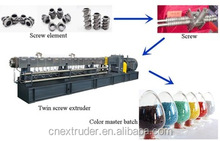 biodegradable plastic granules making machine/twin screw extruder for masterbatch