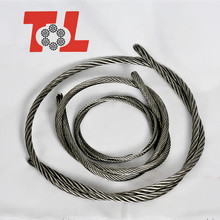 Manufacturer supplier 7x19 stainless steel aircraft cable for sale