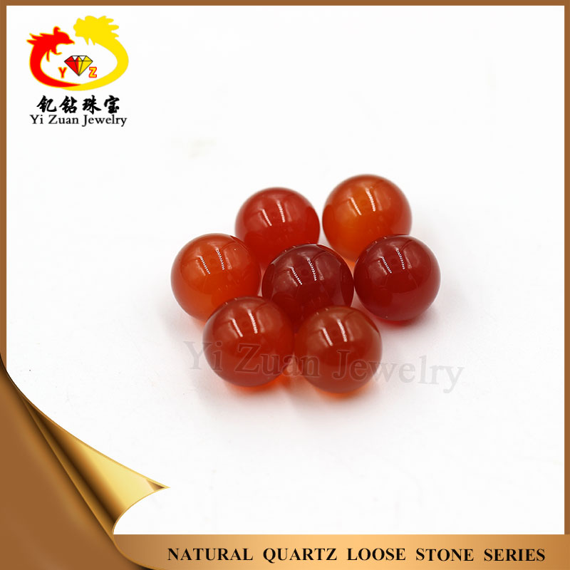 Factory direct price natural red chalcedony round ball for sale