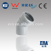 PVC DRAINAGE PRODUCTS 45 ELBOW PVC PIPE FITTINGS WITH RUBBER JOINT