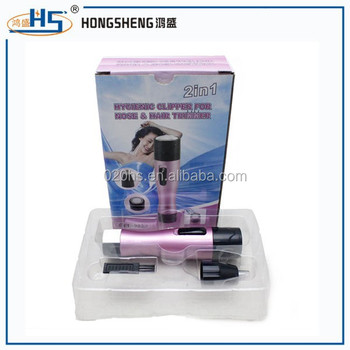 2 in 1 electric woman hair trimmer/nose hair trimmer as seen on tv