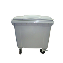 ISO approved industrial outdoor 660L garbage can with recycle trash container for park