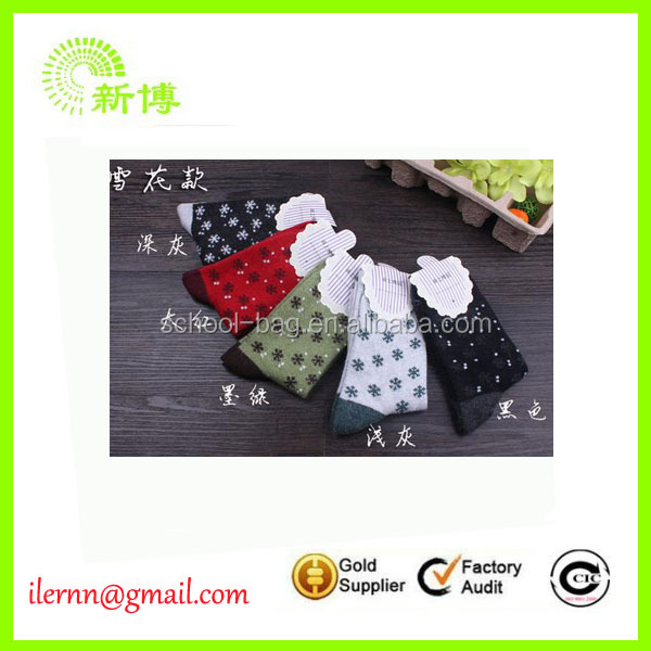 High Quality Plush Mens Christmas Socks