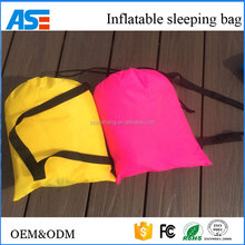 Waterproof fast filling lazy beach sleeping lay bag air bed single person sofa black