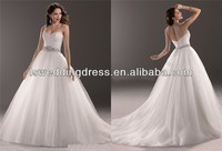 WD2358 New Arrival 2014 sweetheart neckline with tulle skirt medieval weding gowns
