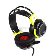2016 New K-T03 Head Mounted Stereo Gaming Headset Super Bass Vibration LED USB3.5 mm for PC Computer