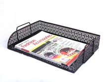 2016 new product B82005-412 best selling item office desk stationery metal mesh paper tray organizer