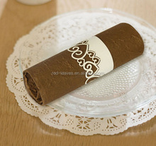 Paper cutting heart shape design napkin ring bulk cheap wholesale napkin ring for your wedding party table decoration