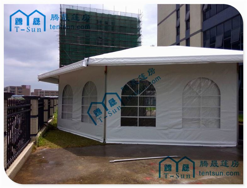Guangzhou TUV&ISO Approved -steel structure membrane cover seats tenthite dome tent