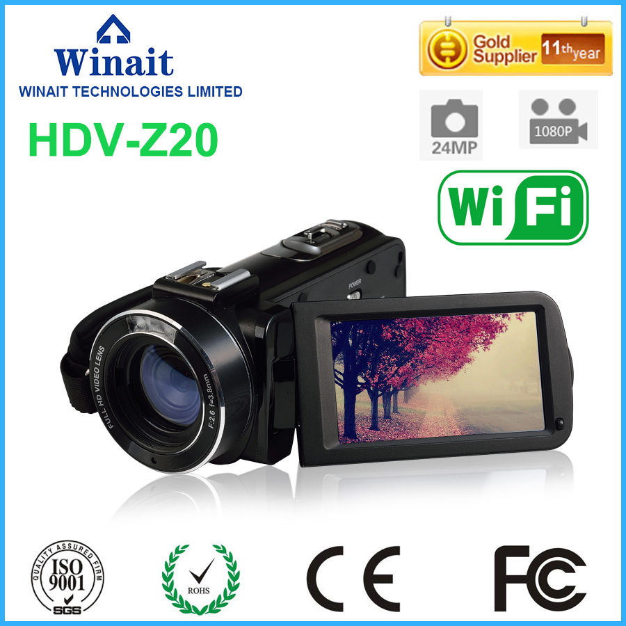 Good Selling Full HD 1080P Camcorder HDV-Z20 with 16x digital zoom wifi video camera