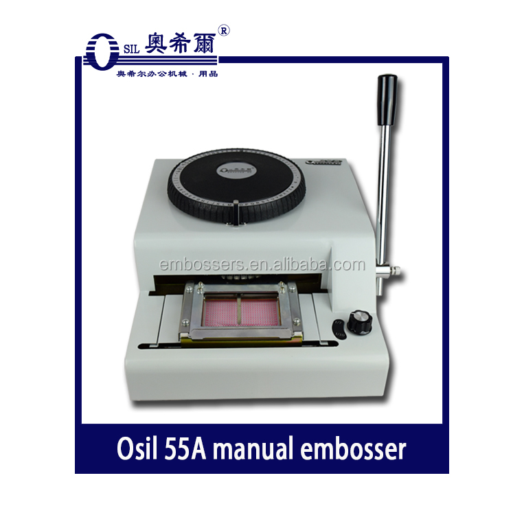 55A Manual PVC card embossing machine manual embosser for plastic card
