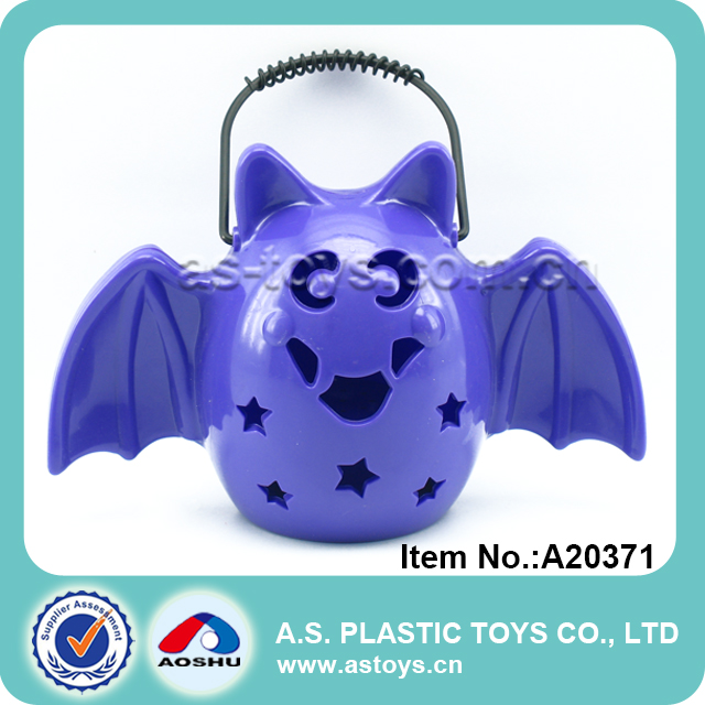 Blue plastic lantern toy Halloween bat lights for children