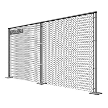 Galvanized in steel wire used panels mesh chain link fence