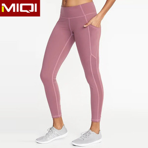 Custom Nylon Spandex Women Sports Mesh Yoga Pants Leggings Fitness Clothing Pants