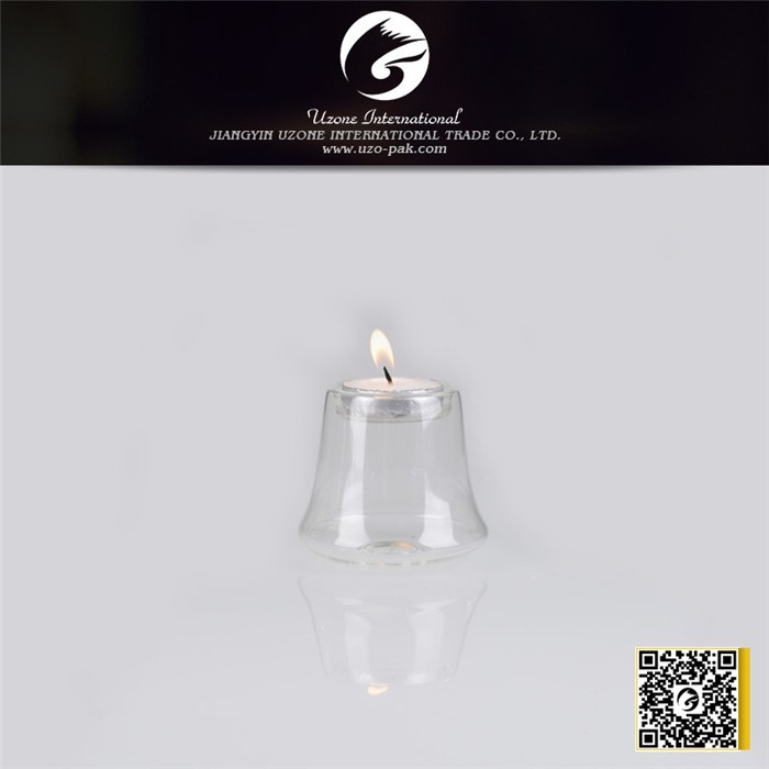 Unique design hot sale glass tube candle holder