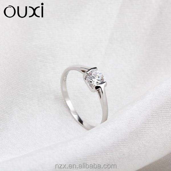 OUXI summer Fashion 925 sterling silver king and queen couple ring Y70044
