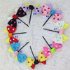 1inch mini polka dot ribbon hair bows With black bobby pin for girls hair accessoires bow with clip for kids