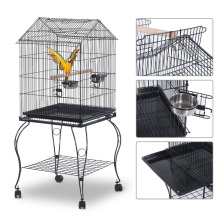 Garden Big Cage for Bird/Macaw/Cockatiel with Wheels