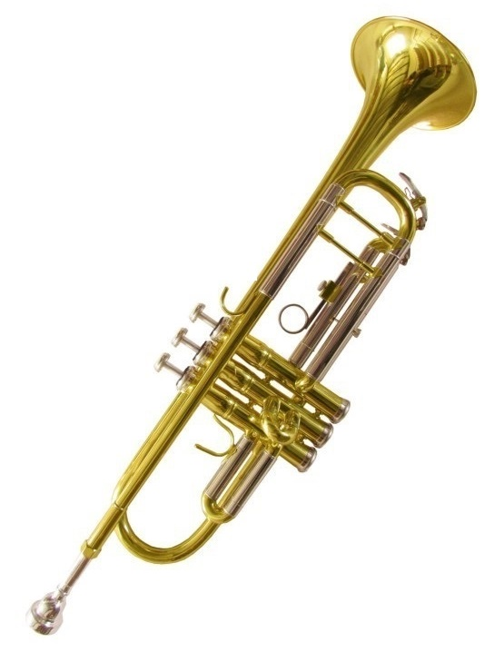 Professional gold lacquer Brass musical instrument trumpet