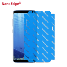 5D Full Screen Coverage Yellow Nano edge TPU Screen Protector For Samsung S8 S8 Plus Anti shock Film