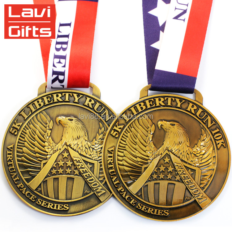 Factory Custom Engraved Champion 3D Sport Metal Gold Commemorative Coin Medal