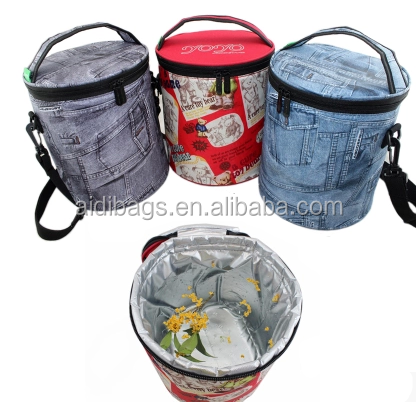 Outdoor fitness 6 cans beer bottle ice cooler bag insulated lunch bag