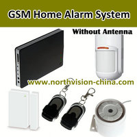 Low price burglar alarm system with 2 wired zones and 12 wireless zones