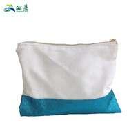 blank wholesale shiny pu cosmetic bag glitter pu cosmetic bags in high quality