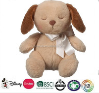 Beige Puppy Wee Sleeps Rattle/Plush Dog Toy/Cute And Cheap Stuffed Puppy Toy