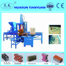 cement concrete burning free brick machine QTY3-15 earth block machinery street paving brick machine for direct supply