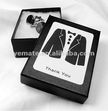 2012 new design fashion wedding gift box for tie&sleeve button, tie boxes wholesale suppliers
