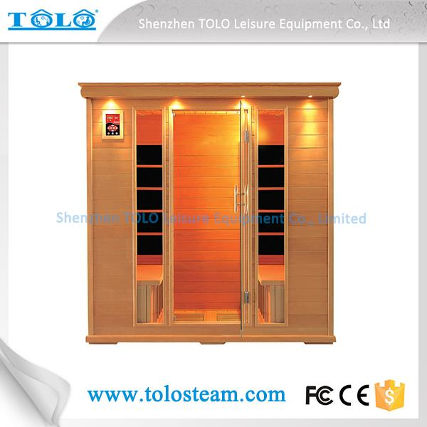 Single Sauna Cabin / Outdoor Dry Sauna Room / Glass Infrared Sauna Bath