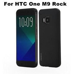 Original Brand Rock Smart Case Invisible Full Window View Flip Cover With Wake Sleep For HTC One M9 Cellphone
