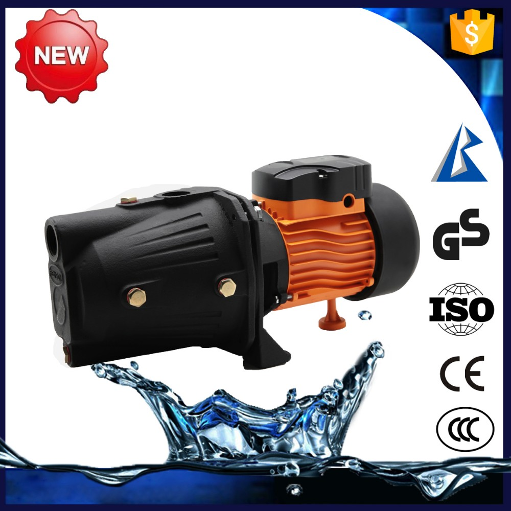 Electric high flow rate centrifugal jet stream water pump with pressure tank