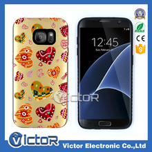 NEW telepone cellular printing laser combo cover for Samsung S7 edge case
