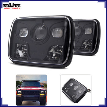 "BJ-HL-041Black 5"" X 7"" Anti-flicker LED Headlight for Jeep Cherokee XJ Trucks lighting"