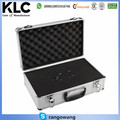 LARGE LIGHTWEIGHT ALUMINIUM FLIGHT FOAM CARRY CASE KEYS LOCK SECURED STORAGE BOX